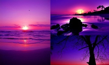 healing power of purple sunrise