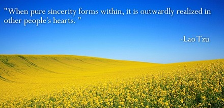 sincerity is being open and genuine