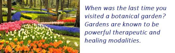 nature's healing gift - botanical gardens