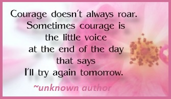 Tuesday's healing word courage