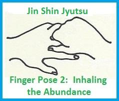 mudra finger pose 2 inhaling abundance