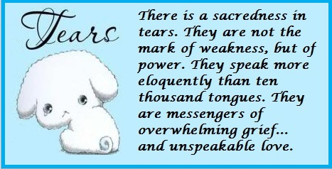 tuesday's healing word tears