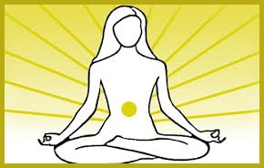 holding & cradling the solar plexus