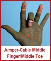 jumoer-cabling middle toes & fingers