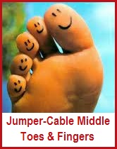 Jumper-Cabling Middle Toes & Fingers