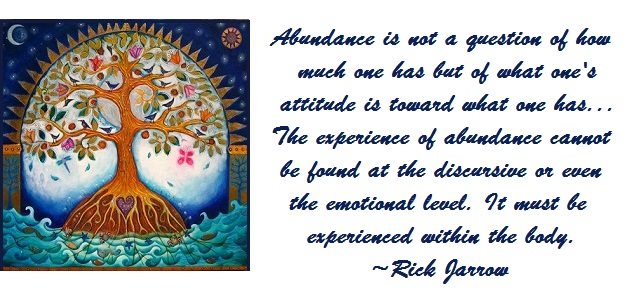 Tuesday's Healing Word abundance