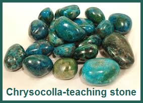 Chrysocolla teaching stone & more