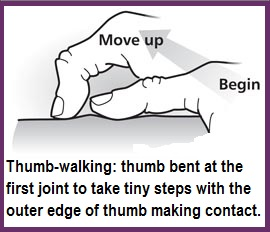 thumb-walk spinal reflex on thumbs