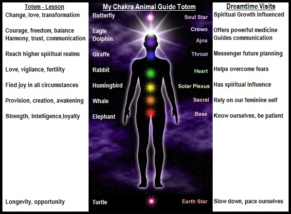 Animal Guide Personal Chakras' Totem