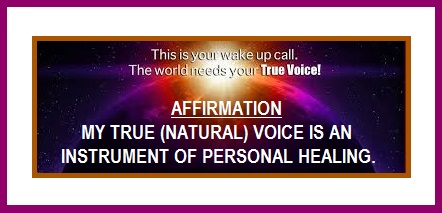 Tuesday's Healing Words - True Voice
