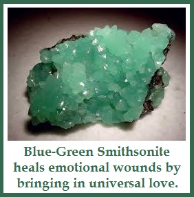 Smithsonite is Soothing Nurturing Accepting