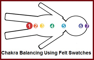 Chakra Balancing Using Felt Swatches