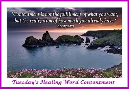 Tuesday's Healing Word Contentment