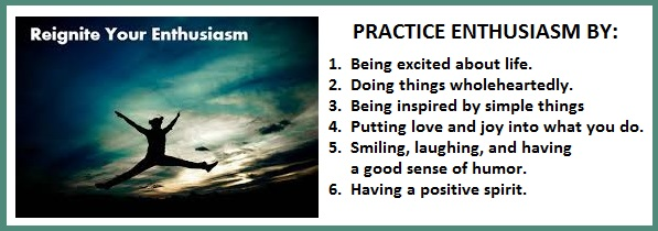 Tuesday's Healing Word - Enthusiasm