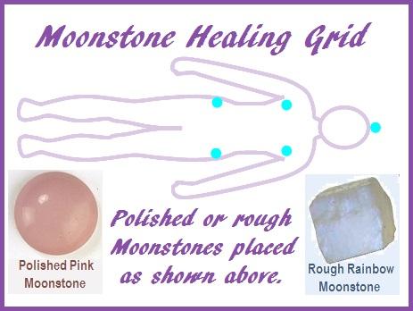Moonstone Healing Grid