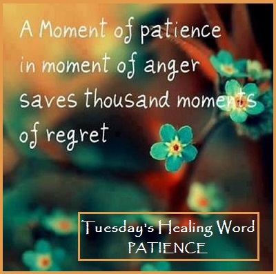 Tuesday's Healing Word Patience