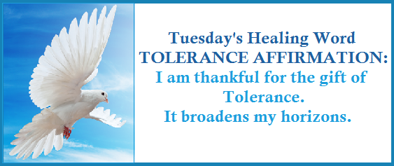 Tuesday's Healing Word Tolerace