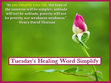 Tuesday's Healing Word Simplify