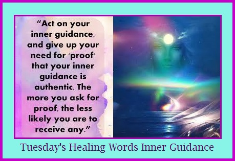Tuesday's Healing Words - Inner Guidance