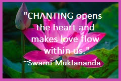 Chanting Is Healint
