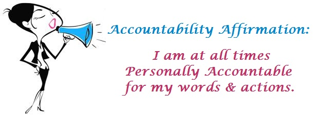 Tuesday's Words - Personal Accountability