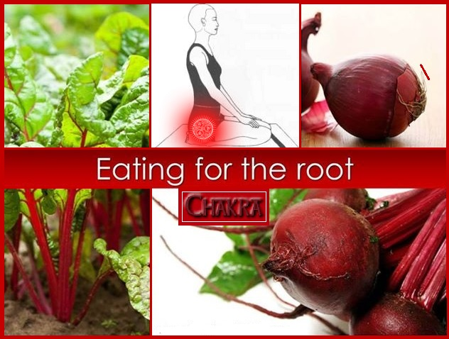 Eating Red Grounds Root Chakra
