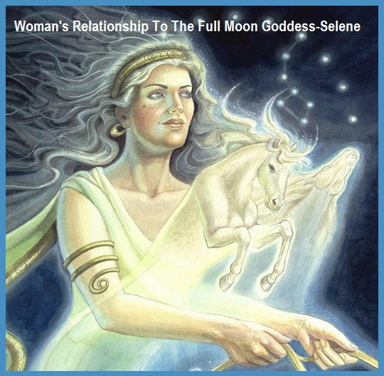 Women Connect to Goddes Selene