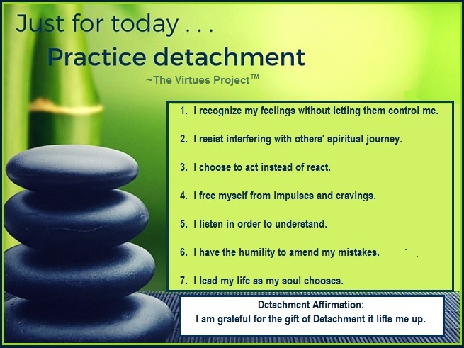 Tuesday's Healing Word - Detachment