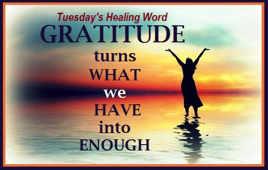 Tuesday's Healing Word - Gratitude