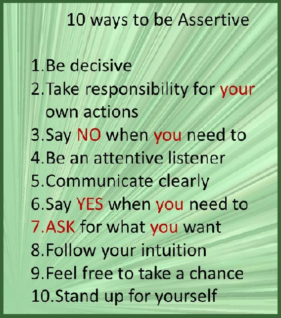 Tuesday's Healing Word Assertiveness