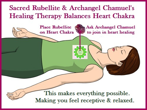Rubelllite Sacred Crystals & Archangel Chamuel